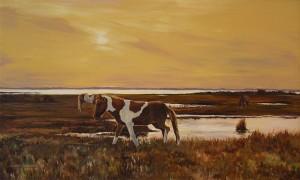 Linda Bassford 20x34 Wild Ponies