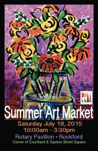 2015 Summer Art Market Poster